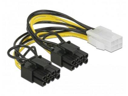 Delock PCI Express napájecí kabel 6 pin samice > 2 x 8 pin samec 15 cm