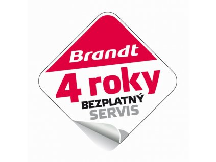 Certifikát 4 roky bezplatný servis BRANDT