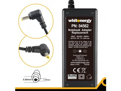 Whitenergy zdroj 19V 3.42A 65W, konektor 5.5x1.7mm