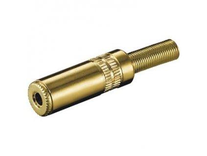 Stereo jack 3,5mm F zlatý