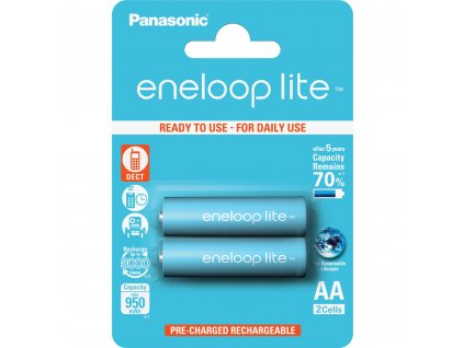 Panasonic 3LCCE/2BE Eneloop Lite AA 950 2BP modré