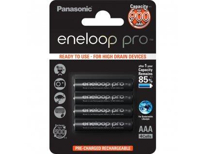 Panasonic 4HCCE/4BE Eneloop Pro AAA 900 4BP černé