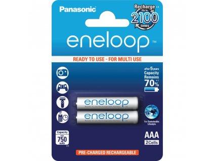 Panasonic 4MCCE/2BE Eneloop AAA 750 2BP bílé