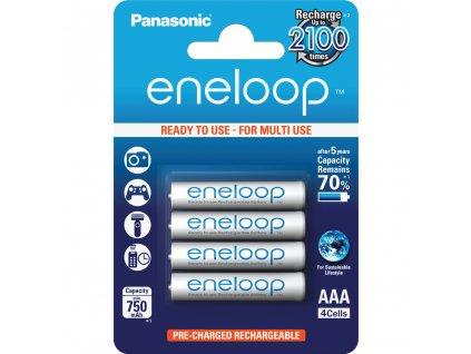 Panasonic 4MCCE/4BE Eneloop AAA 750 4BP bílé