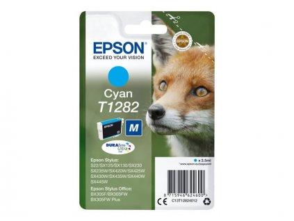 Epson T1282 Cyan 3,5ml pro Stylus S22/SX125/SX130/420W/425W, Stylus Office BX305F - originální