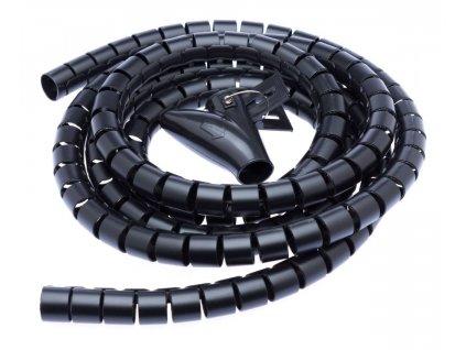 Connect IT CI-514 - Pás na svazování kabelů, trubice, délka 2.50m a šířka 20mm, černá barva