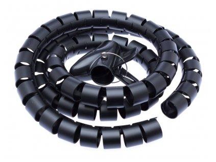 Connect IT CI-515 - Pás na svazování kabelů, trubice, délka 1.50m a šířka 30mm, černá barva