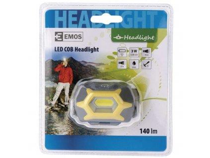 Čelovka na 3x AAA, 1x COB LED 3W