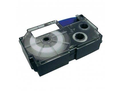Páska do štítkovače Casio XR-12WE1, bílá/černá, 12 mm