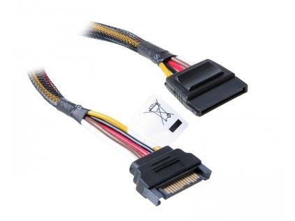 AKASA kabel SATA napájecí prodlužovací 30cm