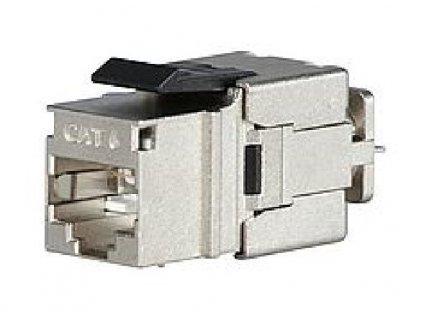 SOLARIX keystone, CAT6, STP, RJ45, černý, rychlozařezávací