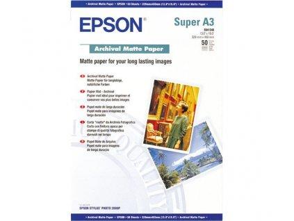 Epson papír Archival Matte Paper, A3+, 50 listů, 192g/m2