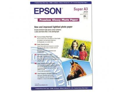 Epson Premium Glossy Photo Paper, DIN A3+, 255g/m2, 20 listů
