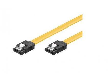 PremiumCord 0,2m SATA 3.0 datový kabel 1.5GBs / 3GBs / 6GBs, kov.západk
