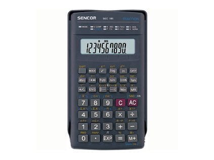 Sencor Školní kalkulačka SEC 185, 240 funkcí, 2 řádkový displej