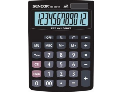 Sencor Stolní kalkulačka s velkým displejem SEC 340/12,Výpočet procent a zisku