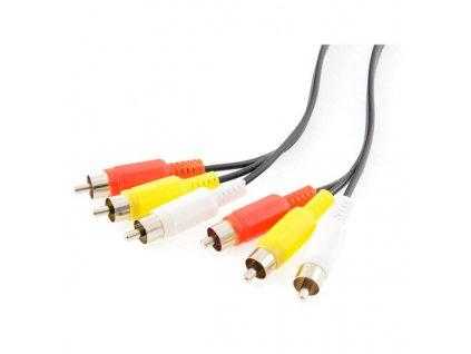 KB Kabel 3x CINCH-3x CINCH M/M 10m