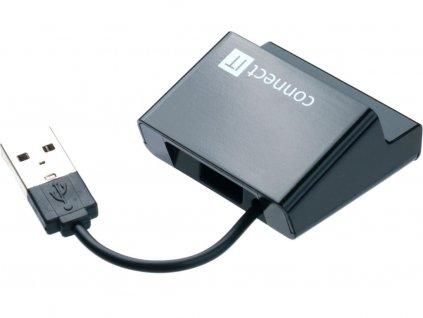 Connect IT CI-108 USB 2.0 HUB se 4 porty, Step černý