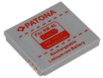 Patona PT1004 - Canon NB-4L 600mAh Li-Ion