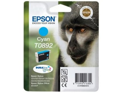 Epson T0892 Cyan 3,5ml proStylus S20/SX100/SX200/SX400 - originální