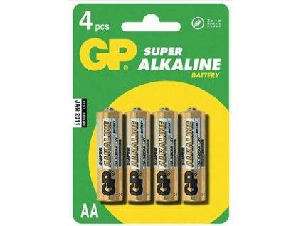 GP baterie Super Alkaline LR6 (AA, tužka) blistr, 4 kusy