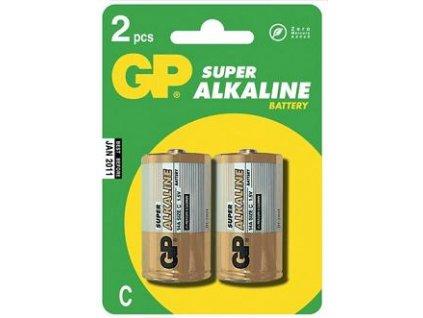 GP baterie Super Alkaline LR14 (C, malé mono) blister, 2 kusy
