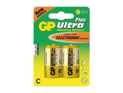 GP Ultra Plus Alkaline R14 (C, malé mono) blister, 2 kusy