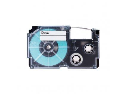 PRINTLINE kompatibilní páska s Casio XR-12GN1 12mm, 8m, černý tisk/zelený podklad