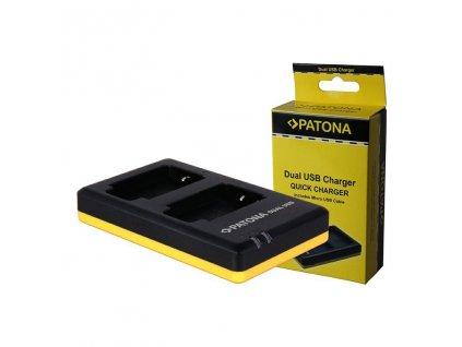 Patona Dual Quick nabíječka akumulátoru pro Panasonic DMC-GF6 USB