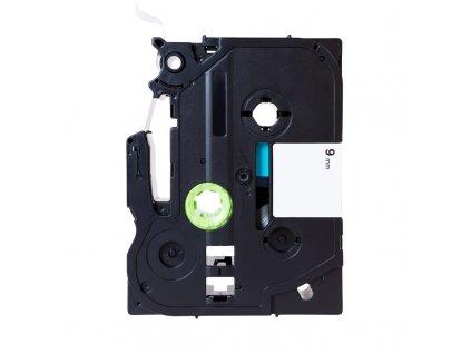 PRINTLINE kompatibilní páska s Brother TZE-121, TZ-121, 9mm, černý tisk/průsvitný podklad