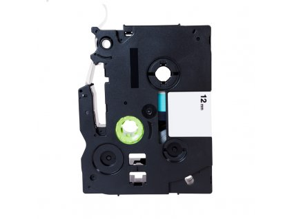 PRINTLINE kompatibilní páska s Brother TZE-132, 12mm, červený tisk/průsvitný podklad