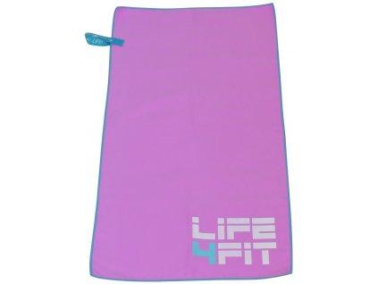 LIFEFIT rychleschnoucí ručník z mikrovlákna 70x140cm, růžový