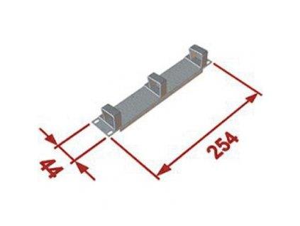 """DATACOM 10"""" vyvazovací panel 1U 3x plast"""