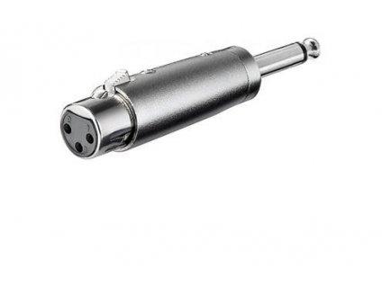 XLR mikrofonní redukce, XLR female - Jack 6,3mm mono male