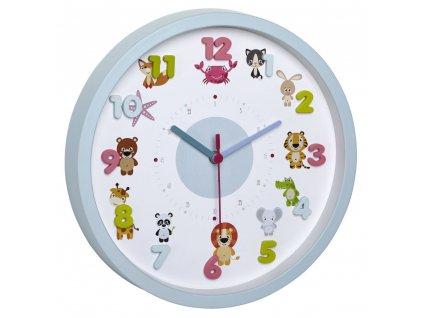 TFA dětské nástěnné hodiny 60.3051.14 LITTLE ANIMALS