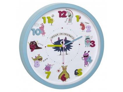 TFA dětské nástěnné hodiny 60.3051.20 LITTLE MONSTERS
