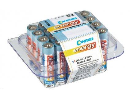 CONRAD Alkalická baterie Conrad energy, typ AAA, 24 ks