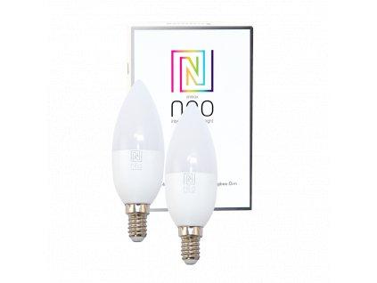 2x Immax Neo LED E14/230V C37 5W Zigbee