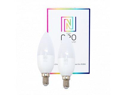 2x Immax Neo LED E14 C37 5W RGBW Zigbee