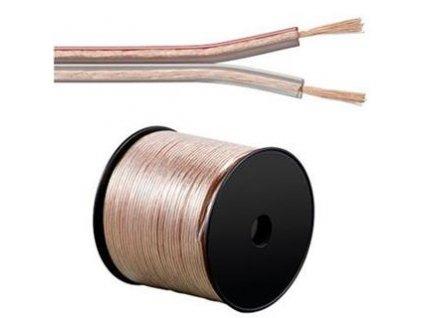 PremiumCord Kabely na propojení reprosoustav 100% CU měď 2x2,5mm 1m
