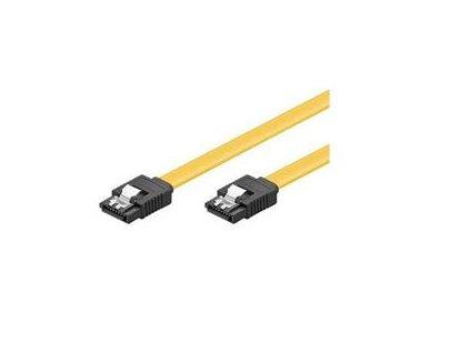 SATA 3.0 datový kabel 1.5GBs / 3GBs / 6GBs, kov.západka - délka 30cm