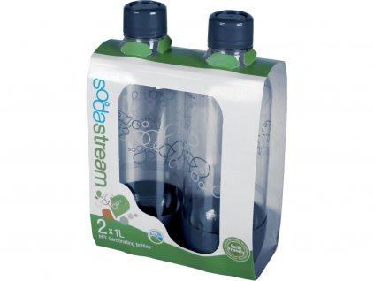 Sodastream láhev 1l GREY/Duo Pack, Plastové dno a uzávěr, 2ks