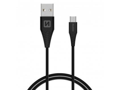 SWISSTEN Micro USB, datový kabel, černý, 1,5 m (9mm)