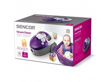 Sencor SVC 512VT-EUE2 fialový