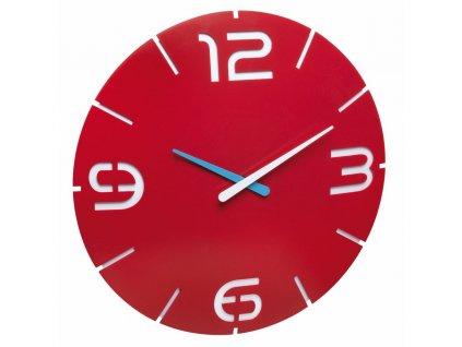TFA nástěnné hodiny 60.3047.05 CONTOUR - červené