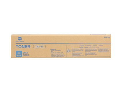 Konica Minolta toner cartridge, cyan, TN 213, pro bizhub C203, C253 (TN213) - originální