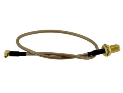 Pigtail RG316 MMCX - RSMA female pro miniPCI, 25cm