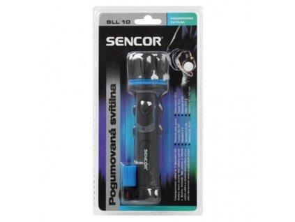 Sencor SLL 10, Kvalitní vodě a prachu odolná celopogumovaná svítilna se 3 výkonnými LED diodami