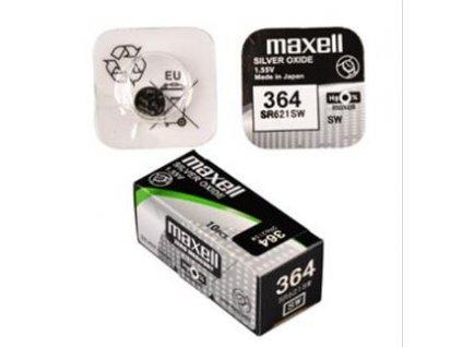 MAXELL Hodinková baterie SR 621SW / 364, LD, blistr 1ks