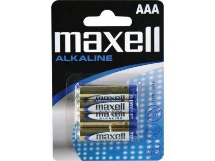 MAXELL Alkalická baterie AAA (R03), blistr 4 ks